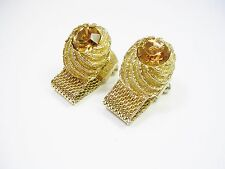 VINTAGE CUFF LINKS SWANK WRAP AROUND CUFFLINKS FORMAL WEAR SHIRT ACCESSORY