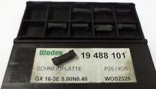 8 Stechplatten Inserts GX 16 3e 5,00 No. 040 wos2325 p25 k20 de Wodex NEUF h9280