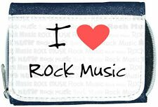I Love Heart Rock Music Denim Wallet