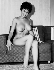 1960s Nude Pinup On Couch Baby Bubbles Corky Dunbar 8 x 10 Photograph