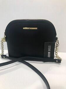 New STEVE MADDEN Women's BMAGGIE CROSSBODY BLK Handbag Purse  DT204410