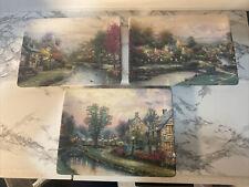 Thomas Kinkade Bradford Exchange Collector Plates 3 Pc