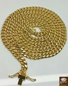 14k Gold Cuban Chain Yellow Gold Necklace 22 inch 6mm BOX LOCK