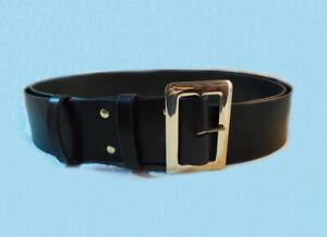 "3"" wide Full Grain Leather Belt, SOLID BRASS Buckle, Blark or Brown Santa_Pirate"