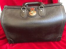 Antique Doctor's Travel Bag Black Cowhide Leather