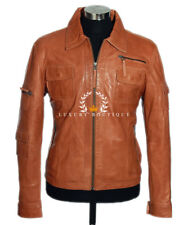 Melvin Tan Men's Military Real Lambskin Leather Jacket 'WAREHOUSE CLEARANCE' / L