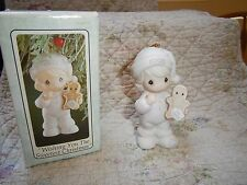 Precious Moments Ornaments Wishing you the Sweetest Christmas Baby Girl 1993