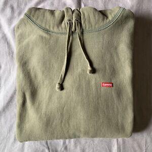 Supreme Small Box Logo Hoodie Light Olive SS20 Size M Hooded Sweatshirt