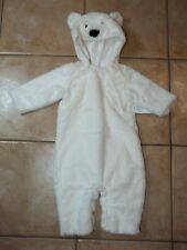 Pottery Barn Kids Baby Polar Bear Halloween Costume White 0-6 Months #59