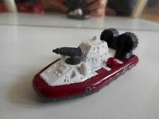 Matchbox Hovercraft in Dark Red/White