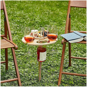 Outdoor Portable & Foldable Wooden Wine Mini Picnic Table