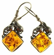 Natural Amber Fine Earrings