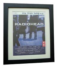 RADIOHEAD+Iron lung+TOUR+POSTER+AD+RARE ORIGINAL 1994+FRAMED+EXPRESS GLOBAL SHIP