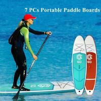 Portable Inflatable Stand Up Paddle Board Surfboard Fin Pump Backpack Kit