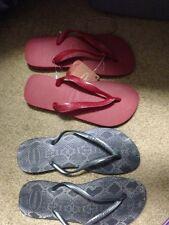 CHOICE OF 1 NEW Havaianas Flip Flop Sz 37 38 ,39 40 (8-9 womens,red dark gray