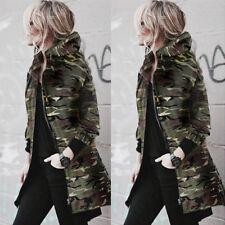 Winter Women Warm Collar Hooded Long Coat Jacket Denim Trench Parka Outwear Lot
