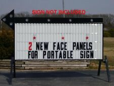"""New 40"""" X 8' Changeable Flexible Letter Outdoor Marquee Readerboard Sign Faces"""