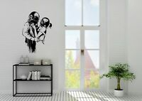 Banksy Style Diver Hug Husband And Wife Home Wall Art Decal Vinyl Sticker
