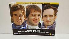 MILD SEVEN RENAULT F1 POSTER  2003 TEAM DRIVERS ALONS0 TRULLI MONTAGNY ELF