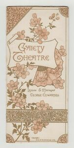"ANTIQUE VICTORIAN THEATRE PROGRAMME & insert ""Carmen up to Data"" Gaiety Theatre"