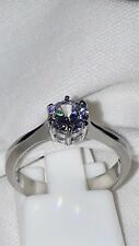SOLITAIRE SIMULATED DIAMOND ENGAGEMENT RING STAINLESS STEEL UK N USA 7