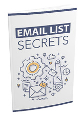 The Step-By-Step Blueprint To Building Email List- eBook, and Bonuses on 1 CD