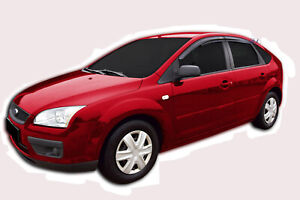 FORD FOCUS mk2 HTB 2005-2010 ADHESIVE Wind deflectors 4pcs set SCOUTT STICK ON