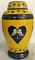 Angel in heart Cremation Urn for Human Ashes Contemporary Urn Adult urn NEW