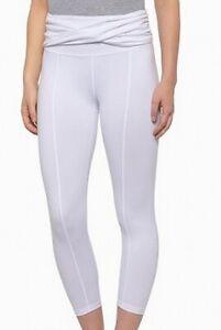 Free People Womens Activewear Leggings White Size Medium M Cropped $88 141