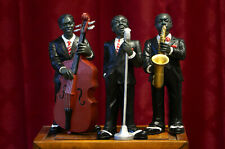 3 Pc - Jazz Band Trio Collection. Singer, Saxophone, Bass  Statues.