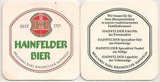 Hainfelder Bier - Bierdeckel der Brauerei Karl Riedmüller