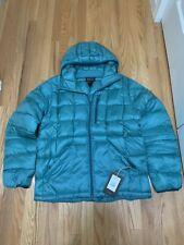 Burton Snowboards Evergreen Hooded Down Jacket Green Blue Slate Mens Sz XL NWT