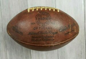 Rare Vintage 1960's NFL Game Used Football Wilson Thorp Pete Rozelle Authentic