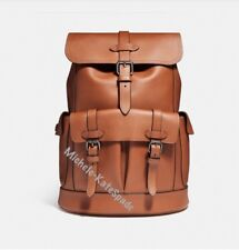 $700 NWT COACH HUDSON MEN'S BACKPACK IN Natural smooth leatherF23202