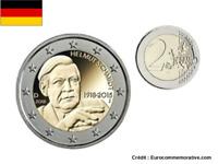 2 Euros Commémorative Allemagne 2018 Helmut Schmidt UNC