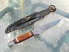 Tennessee Toothpick Indian Cheif Head Fighting / Hunting Knife W/Sheath Vintage