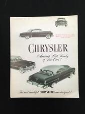 "Vintage 1953 Chrysler ""New Car"" Brochure Wiest Motor Co York, PA"