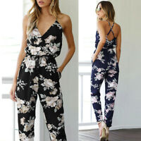 Hot Women Ladies Clubwear Floral Playsuit Bodycon Party Jumpsuit&Romper Trousers