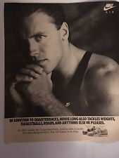 Vintage '87 Nike Air Shoes Howie Long Advertisement Pinup Poster Oakland Raiders