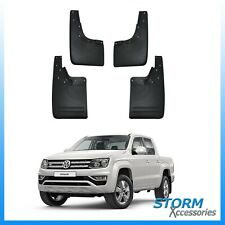 VW AMAROK 2010-2019 DOUBLE CAB OE STYLE MUD FLAPS - 4PCS SET- BLACK