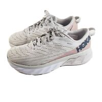 Hoka One One Women's US 7 Arahi 4 Sneakers Off White Pink Nice