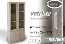 Gicos Vetrina in Rovere 4 Ante 72 x 170 cm