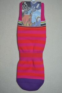 """Paul Smith Mens Pink & Red Two Stripe Cycling Socks """"L"""" Brand New"""