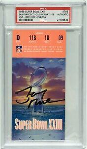 Jerry Rice Signed Super Bowl XXIII (23) Authentic Ticket Stub *SB MVP PSA