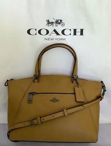 COACH F79997 Pebble Leather Prairie Satchel  Handbag Crossbody QB/Yellow NWT