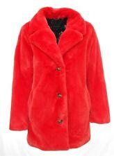 Manteau veste fausse fourrure OAKWOOD femme orange feu USER référence 63441