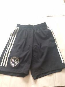 Adidas MLS Sporting KC Kansas City Formation Soccer Shorts To Training Jersey XS