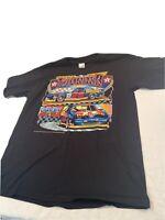 Vintage 1993 NASCAR Davey Allison Texaco Havoline Racing Shirt Mens XL  Black 28