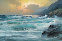 LMOP1394 charm 100% handmade-painted ocean seascape oil painting art on canvas