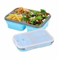 Collapsible Silicone Lunch Box Folding Portable Food Bowl Container Lunchbox